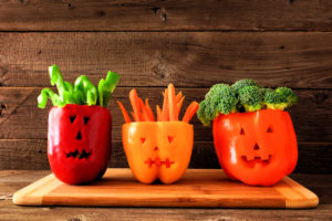 Presentación pimientos halloween saludable